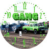 Team Gang Green Truck Pulling Clock