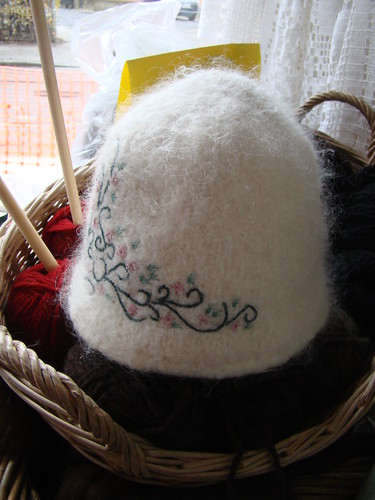 Felted Embroidered hat