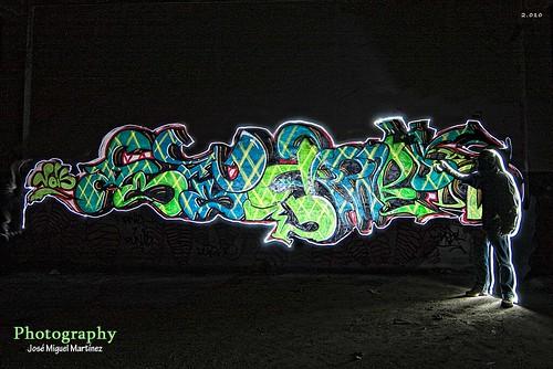 Grafiti de luz.