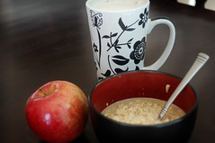 Morning (Trysha.) Tags: morning food breakfast oatmeal chai