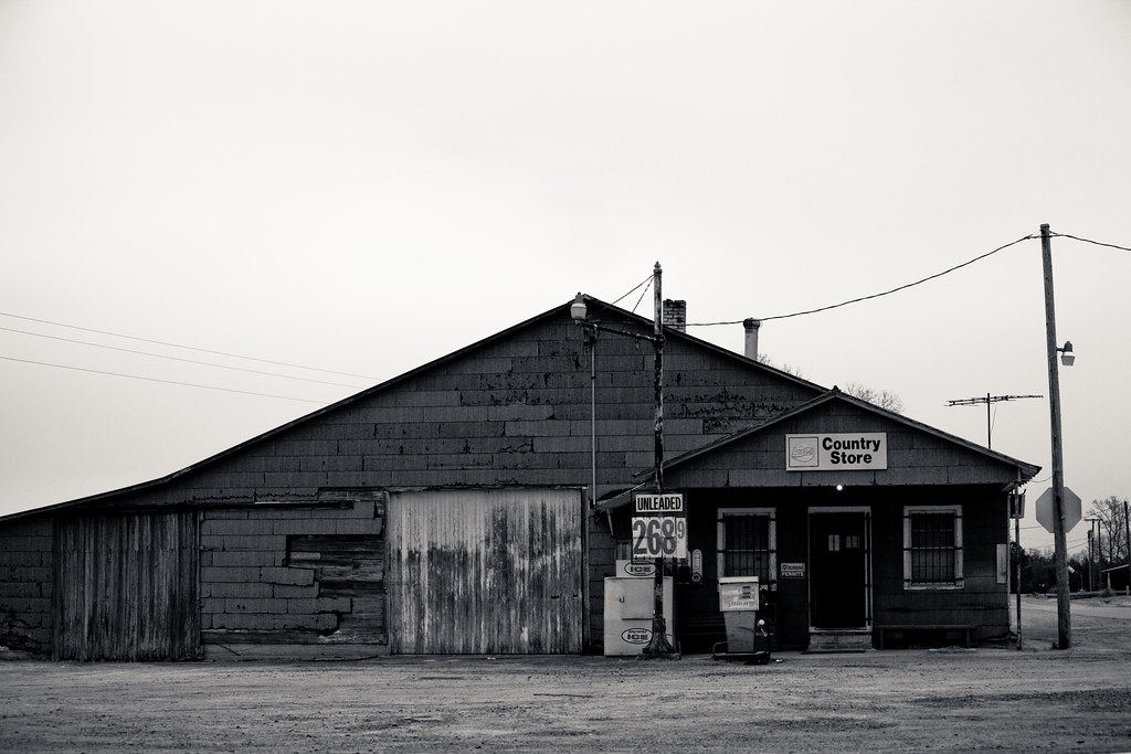 Country Store in Black and White