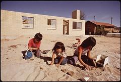 Navajo Children Make Mud