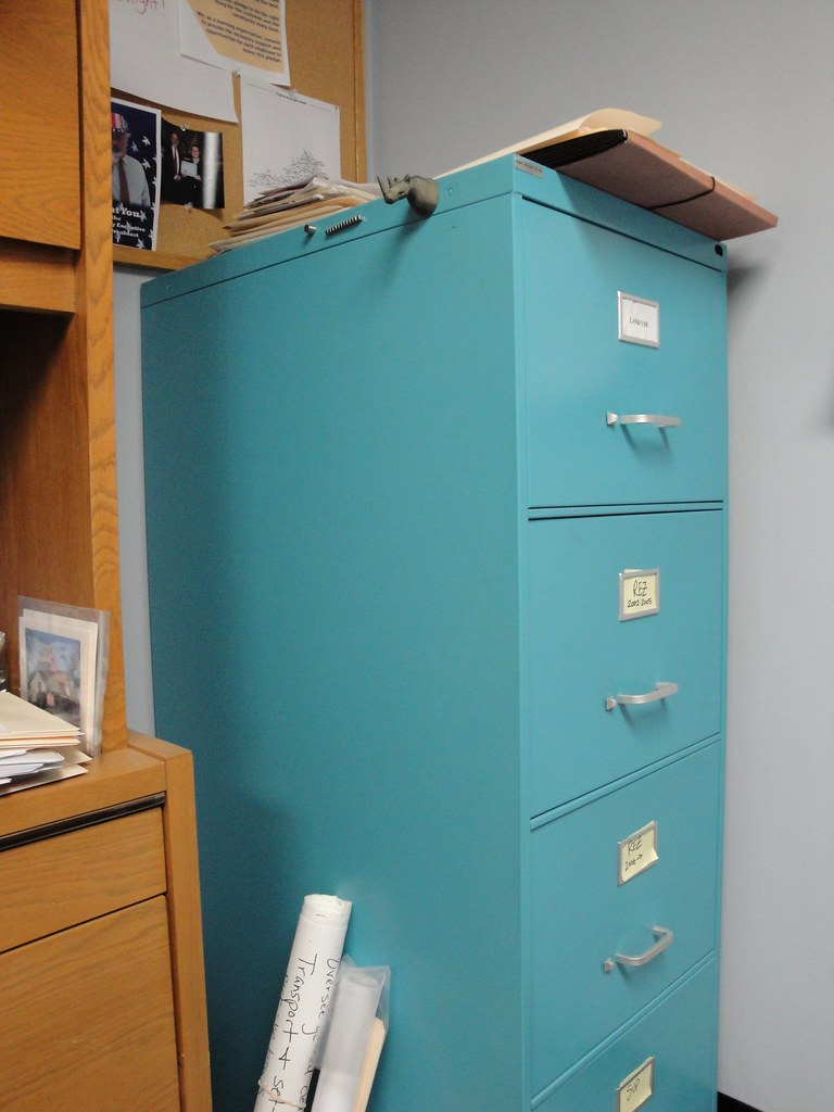 Turquoise File Cabinet