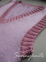 Shiny pink vest