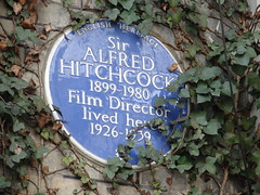 Photo of Alfred Joseph Hitchcock blue plaque