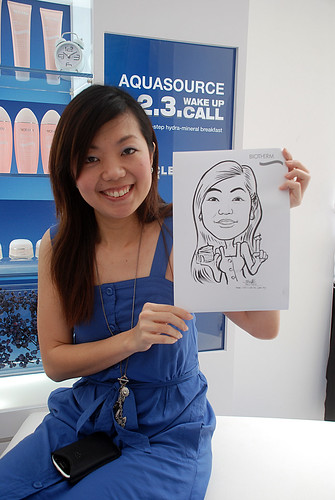 Caricature live sketching for Biotherm Roadshow Loreal - 1