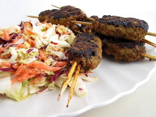koftas with slaw