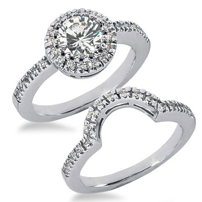 Diamond and Wedding Rings Wedding ring sets with gold diamond