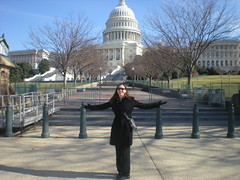 Clare In Front of Capitol Building