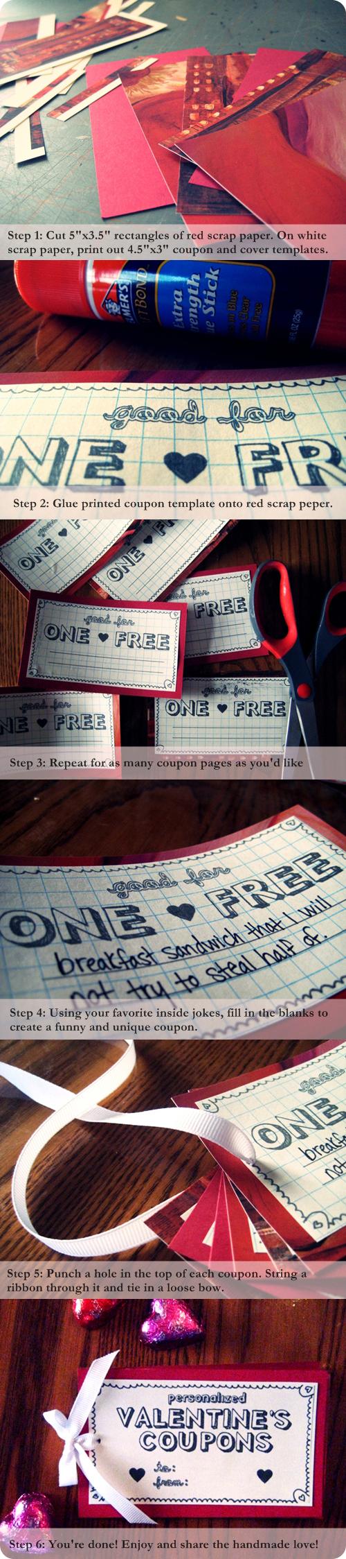 Valentine Fun with Guest Blogger Mae Chevrette : DIY Non-Corny Valentine's Day Coupon Book!
