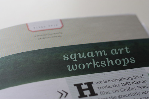 UPPERCASE Winter 2010 Issue: Squam Article