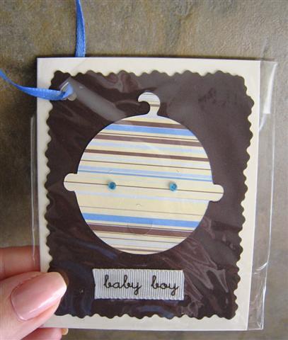 Baby boy gift enclosure card