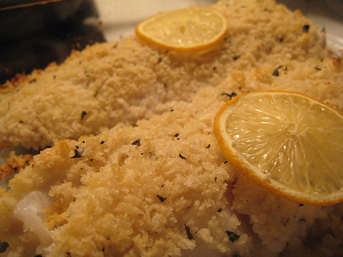Rosemary Panko Crusted Cod