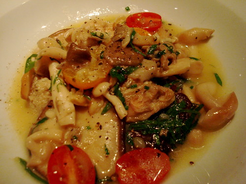 Opus' Sauté of mushrooms with garlic, herbs and tomato