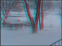 """Blizzard of '10 Pasadena, MD """"Snowmagedon"""" (starg82343) Tags: snow weather movie outside outdoors moving video stereoscopic 3d md play wind snowy brian maryland windy anaglyph clip stereo wallace pasadena blizzard gusty videoclip stereoscopy stereographic brianwallace"""