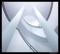 ° (sediama (break)) Tags: blue white stairs germany munich münchen pentax treppe staircase blau treppenhaus weis k20d sediama igp4960 ©bysediamaallrightsreserved