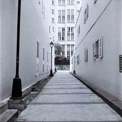 Linkway between Ann Siang Hill park and Telok Ayer Street ([James]) Tags: bw 120 6x6 tlr vintage mediumformat yashica ilforddelta100 centralsingapore