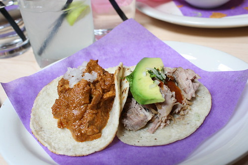 Chicken and Pork Tacos at Loteria Grill