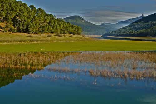 Los Llanos de Bujaraiza en el pantano del Tranco