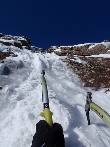 Yeah! A few good sticks up thin snice/ice on the first pitch of Silk Road.