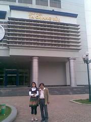 TS.Tran Manh Tien va NCS.Pham Thi Xuan Chau at HUT
