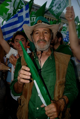 PASOK party supporter - summer 2009
