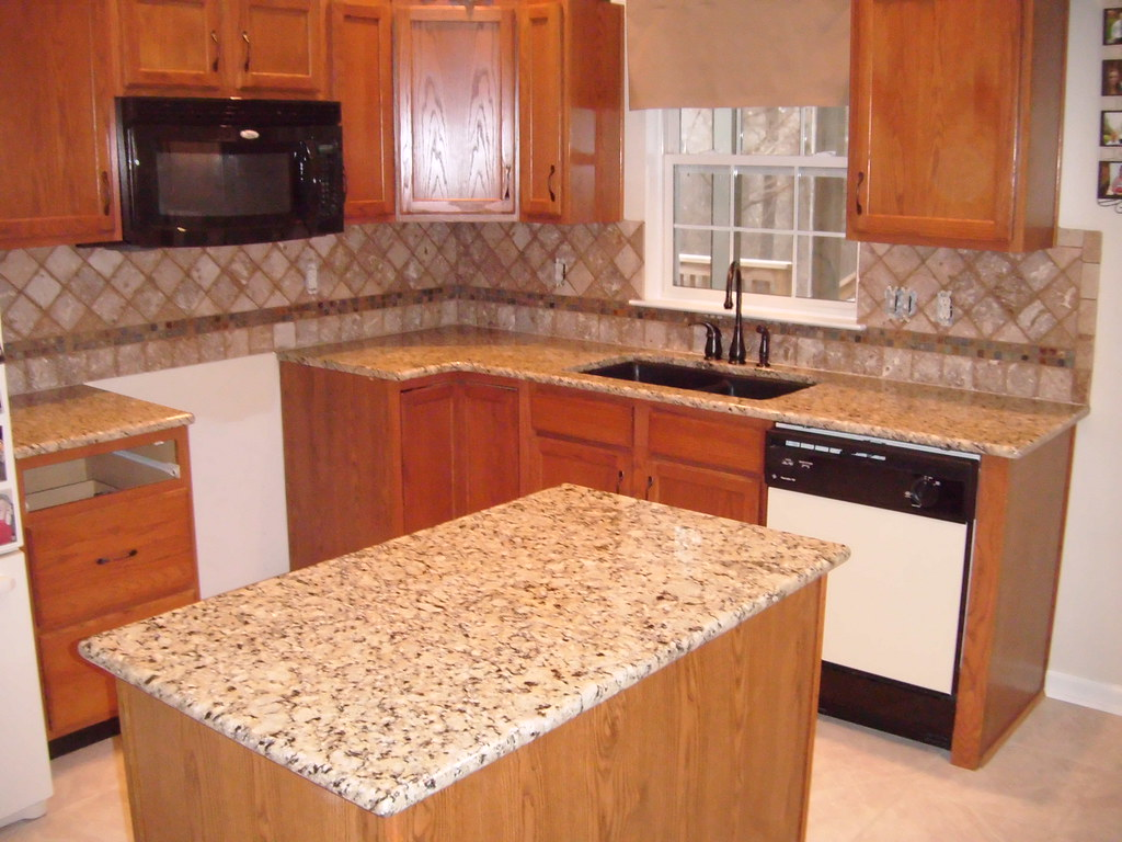 Giallo Napoleon Granite with Tile - Granite Charlotte