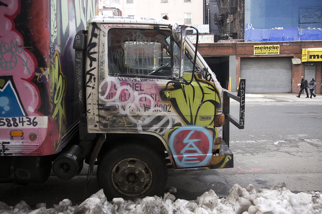 Truck graffiti, East Village