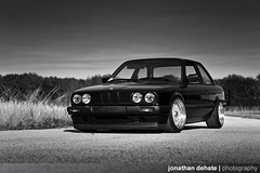 Stephen Blair's 1991 BMW E30 (Jonathan_DeHate) Tags: light black abandoned canon silver photography rebel big factory natural florida jonathan bees awesome alien lips stephen bmw blair 5d 1991 rs bbs e30 kw coilovers strobes 2470mm centers 318is f28l xti lessburg dehate