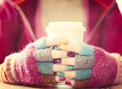 { easy like sunday morning } - explored (annie.manning {paint the moon}) Tags: pink color coffee cozy cafe rainbow hands warm girly fingers gloves starbucks ritual comfort steamer fingernailpolish paintthemoonactions soymilkcinnamondolce