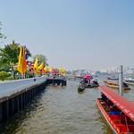 Pier of Wat Arun, the temple of dawn, at the Chao Phraya river in Bangkok, Thailand thumbnail