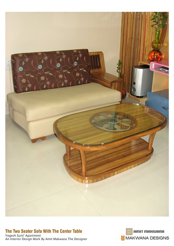 I ' The Two Seater Sofa With The Center Table