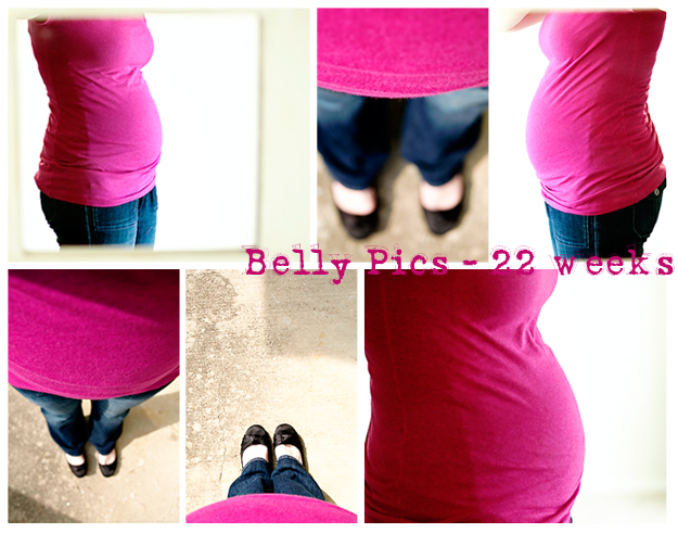 22 Week Belly Collage