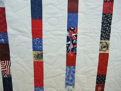 Veteran's quilt up close