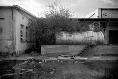 The Gas storage facility III (NickChino) Tags: bw plant abandoned crust rust factory decay empty greece machinery textile urbanexploration derelict patras urbex patra        urbexeurope urbexgreece