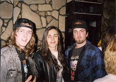 04/01/91 Dave Eckstrom and Kevin Cortese with Extreme's Nuno Bettencourt @ Sawmill Inn, Grand Rapids, MN