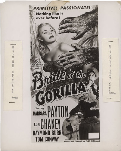 BRIDE OF THE GORILLA (1951) Local Ad mash-up proof