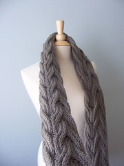 Handmade Knit Wraps (PreciousKnits) Tags: light fall classic scarf spring knitting handmade gray wrap cable shawl elegant timeless warn washable greenknitting