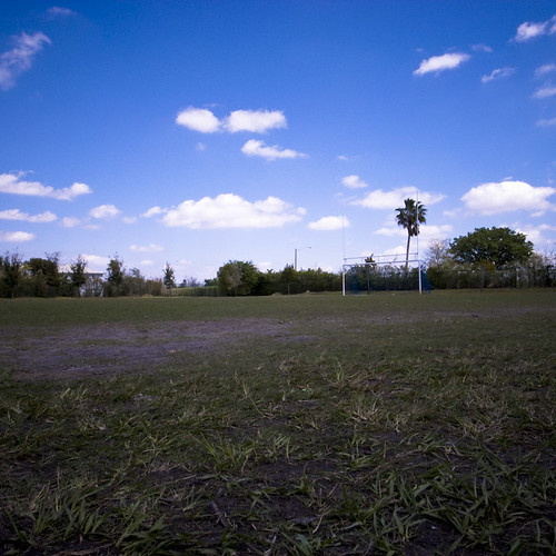 Even a Soccer Field Brings Warmth, Miami 2010