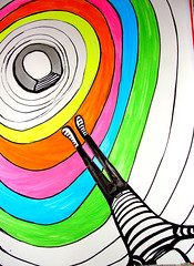 The Time Tunnel - The Martian Punk (Punk Marciano) Tags: light color art colors rock modern illustration painting design graphicdesign couleurs modernart arts images colores timetunnel ilustrao ilustracion farben kleuren artmoderne fluorescentcolors banddessin mariobraune