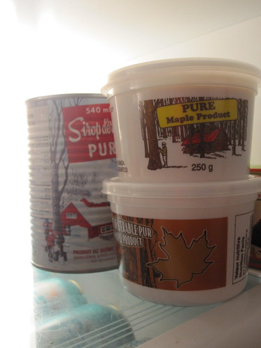 Maple syrup and maple butter from Julie's family sugar shack - $20