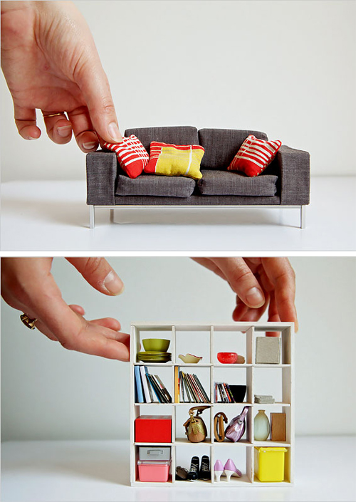 Mini Modern Dollhouse via The New York Times