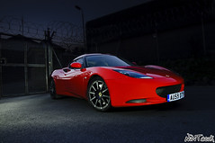 Red 2010 Lotus Evora 2 + 0 Sports Pack At Night Low Front Quarter Long Exposure Light Painting (NWVT.co.uk) Tags: blue light red 2 sports night painting nikon long exposure heaven driving photographer lotus low automotive hampshire front pack quarter 20 skys evora digest freelance 2010 d300 at worldcars nwvtcouk nwvt