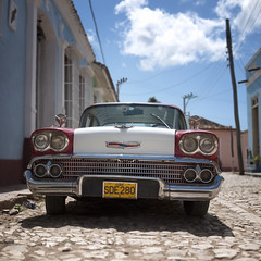 postcard from cuba (urchino) Tags: chevrolet car square postcard cuba trinidad lumixgf1 20mmpancake