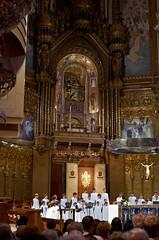 Spain, Monasterio de Montserrat (VladimirYo) Tags: choir spain singing cathedral pentax da montserrat 40 limited k5 primelens smcpda40mmf28