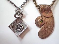 2017_0127_MidWinterHuesEntries_MidWinterNest_GreenReturns_websize_4037 (convergent_series) Tags: northhillsartcenter midwinterhues greenreturns midwinternest silver finesilver sterlingsilver nests pendants bronze czs