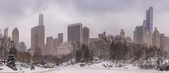 Panorama with the Sony 7RM2 (karinavera) Tags: travel sonya7r2 panorama newyork lake bridge day cityscape centralpark snowing city