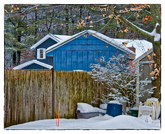 Out Back (Timothy Valentine) Tags: 0217 2017 friday home fence snow eastbridgewater massachusetts unitedstates us