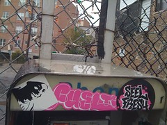 (theres no way home) Tags: chicago graffiti sticker phonebooth sharkula thig fueltv seelfresh thigamahjigee