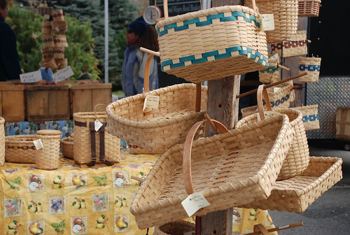 baskets at the Camden Farmers' Market